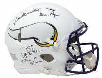"Vikings ""Purple People Eaters"" Full-Size Matte White Speed Helmet Signed by (4) with Carl Eller, Alan Page, Gary Larsen, & Jim Marshall (Beckett COA) at PristineAuction.com"