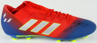 """Lionel Messi Signed Adidas Soccer Cleat Inscribed """"Leo"""" (Beckett LOA) at PristineAuction.com"""