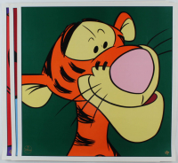Set of (3) LE 1997 Walt Disney 23x23 Lithographs with Winnie the Pooh, Tigger & Genie (See Description) at PristineAuction.com