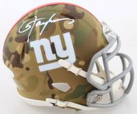 Lawrence Taylor Signed Giants Camo Alternate Speed Mini Helmet (JSA COA) at PristineAuction.com