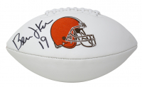 Bernie Kosar Signed Browns Logo Football (JSA COA) at PristineAuction.com