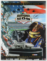 Dale Earnhardt Jr. Signed 23x30 2004 Daytona 500 Program Cover Photo on Canvas (Dale Jr. Hologram & COA) at PristineAuction.com