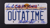 "Christopher Lloyd Signed ""Back to the Future"" California License Plate Inscribed ""When This Baby Hits 88 MPH... You're Going To See Some Serious S***"""" & ""Doc"" (ACOA COA) at PristineAuction.com"