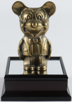 Walt Disney's Mickey Mouse Bronze Statue Figure with Wooden Base at PristineAuction.com