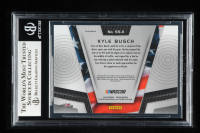 Kyle Busch Signed 2018 Panini Prizm Stars & Stripes Silver Prizms #11 (Beckett Encapsulated) at PristineAuction.com