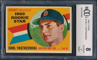Carl Yastrzemski 1960 Topps #148 RS RC (BCCG 8) at PristineAuction.com