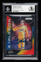 Kyle Busch Signed 2018 Panini Prizm Explosion #87 Rainbow Prizm #03/24 (Beckett Encapsulated) at PristineAuction.com
