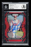 Dale Earnhardt Jr. Signed 2018 Panini Prizm #22 Red Prizms #07/75 (Dale Jr. Hologram & Beckett Encapsulated) at PristineAuction.com