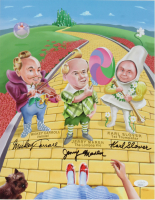 """Mickey Carroll, Jerry Maren & Karl Slover Signed """"The Wizard of Oz"""" 11x14 Photo (JSA COA) at PristineAuction.com"""
