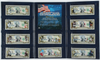 Set of (10) LE Americana Colorized 2 Dollar Bill Bank Notes with Babe Ruth, Marilyn Monroe, Muhammad Ali, John F. Kennedy at PristineAuction.com