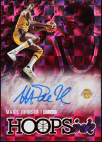 Magic Johnson 2020-21 Hoops Hoops Ink Red #13 at PristineAuction.com