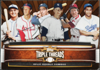 Jimmie Foxx / Stan Musial / Joe DiMaggio / Mickey Mantle / Mike Schmidt / Roy Campanella 2011 Topps Triple Threads Relic Combos Double Sepia #TTRDC10 at PristineAuction.com