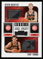 Kevin Huerter / Trae Young 2018-19 Panini Contenders Rookie Ticket Dual Swatches #7 at PristineAuction.com