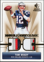 Tom Brady 2007 SP Rookie Threads Double Coverage #DCTB at PristineAuction.com