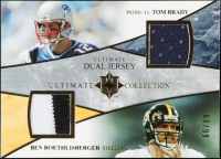 Tom Brady / Ben Roethlisberger 2006 Ultimate Collection Jerseys Dual #UDBR at PristineAuction.com
