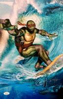 "Greg Horn Signed Teenage Mutant Ninja Turtles ""Surfs Up"" 11x17 Lithograph (JSA COA) at PristineAuction.com"
