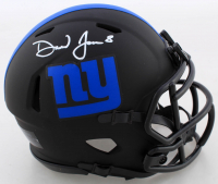 Daniel Jones Signed Giants Eclipse Alternate Speed Mini Helmet (Beckett COA) at PristineAuction.com