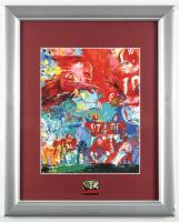 LeRoy Neiman Bear Bryant 13x16 Custom Framed Print Display with Alabama Crimson Tide Pin at PristineAuction.com