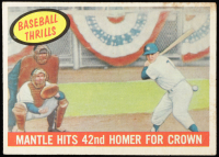 Mickey Mantle 1959 Topps #461 BT / 42nd Homer at PristineAuction.com