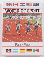 """1993 Fax Pax """"World Of Sport"""" Complete Set of (40) Cards with #21 Diego Maradona, #11 Lennox Lewis, #24 Jack Nicklaus, #7 Michael Jordan at PristineAuction.com"""