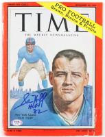 "Sam Huff Signed Original 1959 Full Time Magazine Inscribed ""HOF 82"" (PSA COA) (See Description) at PristineAuction.com"
