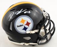Diontae Johnson Signed Steelers Speed Mini-Helmet (Beckett COA) at PristineAuction.com