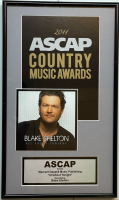 """Blake Shelton """"All About Tonight"""" 9.5x16 Custom Framed 2011 ASCAP Honors Music Award at PristineAuction.com"""