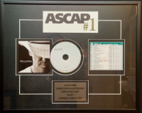 """Kenny Chesney """"Reality"""" 18x22 Custom Framed ASCAP Honors Award at PristineAuction.com"""