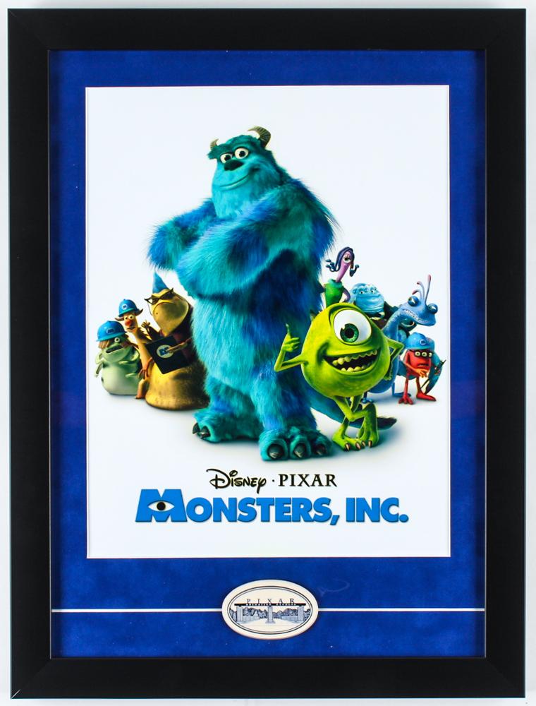 "Walt Disney's ""Monsters, Inc."" 15x15 Custom Framed Print Display With Pixar Animation Studios Ceramic Symbol at PristineAuction.com"