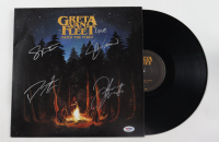 "Greta Van Fleet ""From the Fires"" Vinyl Record Album Cover Band-Signed by (4) with Josh Kiszka Jake Kiszka, Sam Kiszka and Danny Wagner (PSA Hologram) at PristineAuction.com"