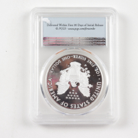 2018-W American Silver Eagle $1 One Dollar Coin - First Strike (PCGS PR70 Deep Cameo) (QA) at PristineAuction.com