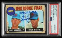 "Nolan Ryan Signed Jerry Koosman / Nolan Ryan 1968 Topps #177 RC Inscribed ""1969 Miracle Mets"" (PSA Encapsulated) at PristineAuction.com"