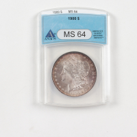 1900 Morgan Silver Dollar (ANACS MS64) (Toned) at PristineAuction.com