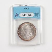 1888 Morgan Silver Dollar (ANACS MS64) (Toned) at PristineAuction.com