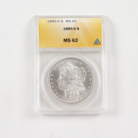 1885-O Morgan Silver Dollar (ANACS MS62) at PristineAuction.com