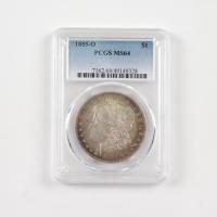1885-O Morgan Silver Dollar (ANACS MS64) (Toned) at PristineAuction.com