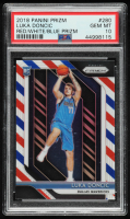 Luka Doncic 2018-19 Panini Prizm Prizms Red White and Blue #280 (PSA 10) at PristineAuction.com