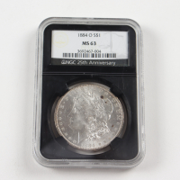 1884-O Morgan Silver Dollar - Black Core Holder (NGC MS63) at PristineAuction.com