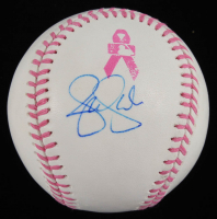 Jennie Finch Signed OML Breast Cancer Awareness Baseball (JSA Hologram) at PristineAuction.com