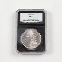1881-S Morgan Silver Dollar - Black Core Holder (NGC MS63) at PristineAuction.com