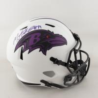 Mark Andrews Signed Ravens Full-Size Matte White Speed Helmet (Beckett COA) (See Description) at PristineAuction.com