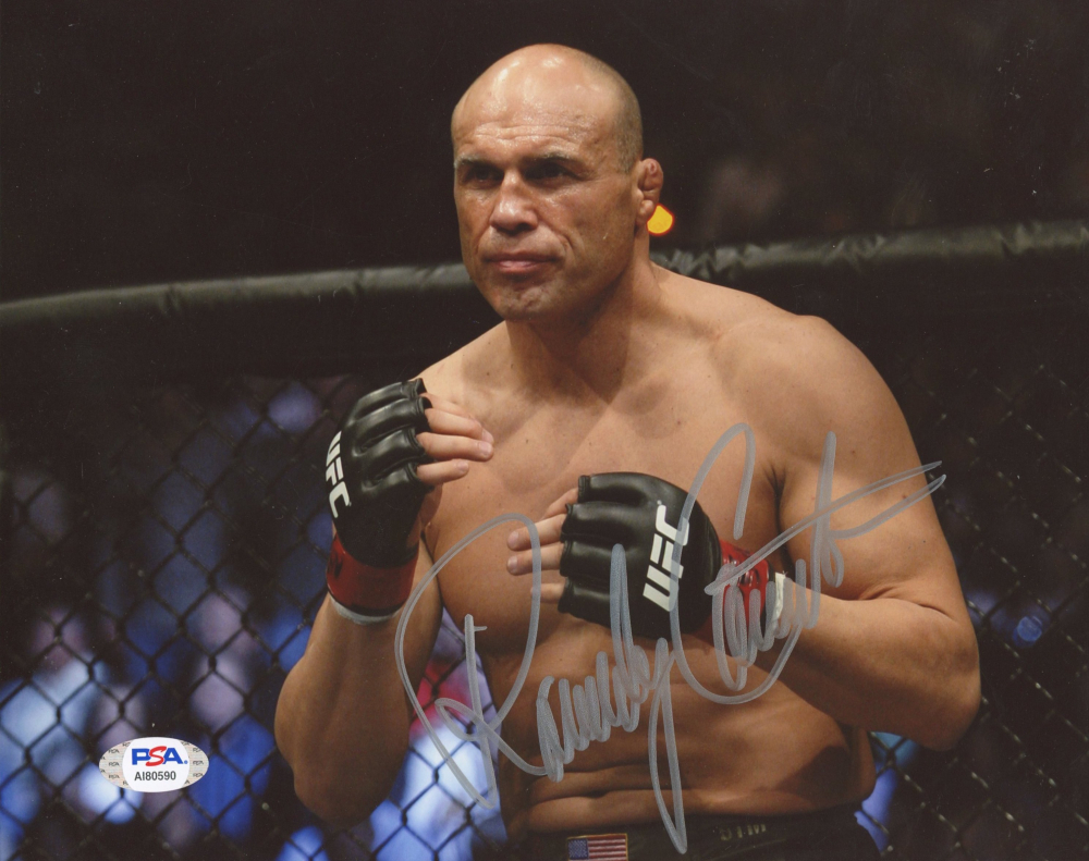 Randy Couture Signed UFC 8x10 Photo (PSA Hologram) at PristineAuction.com