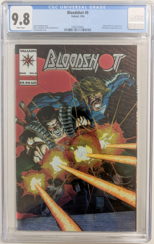 "1994 ""Bloodshot"" Issue #0 Valiant Comic Book (CGC 9.8) at PristineAuction.com"