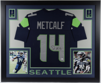 DK Metcalf Signed 35x43 Custom Framed Jersey (Beckett COA) at PristineAuction.com