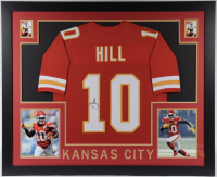Tyreek Hill Signed 35x43 Custom Framed Jersey Display (Beckett COA) at PristineAuction.com