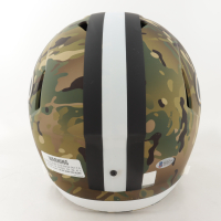 "Drew Brees Signed Saints Full-Size Camo Alternate Speed Helmet Inscribed ""NFL All Time Passing Yds Leader"" (Beckett COA & Brees Hologram) at PristineAuction.com"