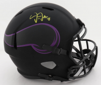 Justin Jefferson Signed Vikings Full-Size Eclipse Alternate Speed Helmet (Beckett COA) (See Description) at PristineAuction.com