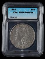 1892 Morgan Silver Dollar (ICG AU50) at PristineAuction.com