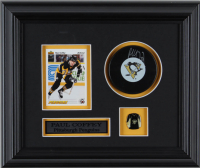 Paul Coffey Signed Penguins 10.5x12.5 Custom Framed Puck Display (COJO COA) (See Description) at PristineAuction.com