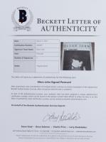 Elon John Twice-Signed 4x6 Postcard (Beckett LOA) at PristineAuction.com